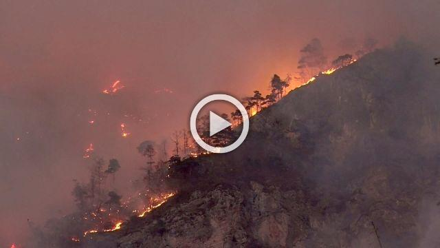 Raging fire breaks out in northern Italy