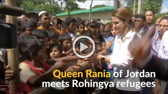 Jordan's Queen Rania calls out 'systematic prosecution' of Rohingya
