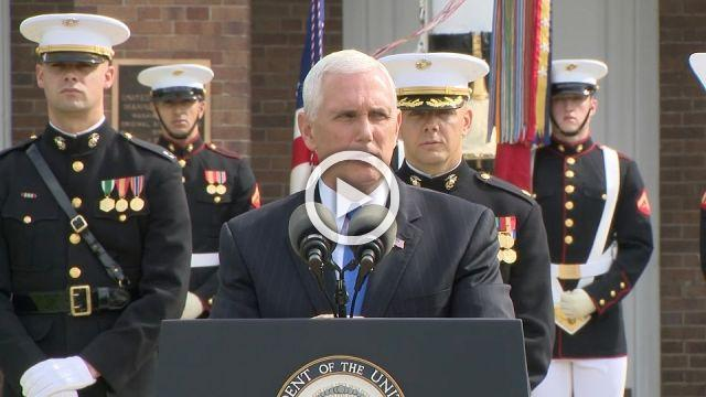 Pence condemns Iran on anniversary of Beirut bombing