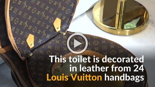 Toilet fashion reaches new depths with Louis Vuitton cover