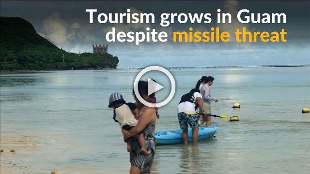 Tourists in Guam unfazed by North Korea missile threat