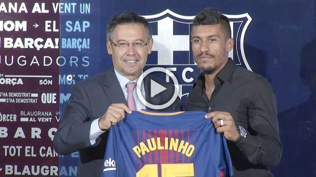 Paulinho says Barcelona signing a 'special moment'