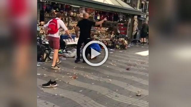 Video shows horrific aftermath in Barcelona