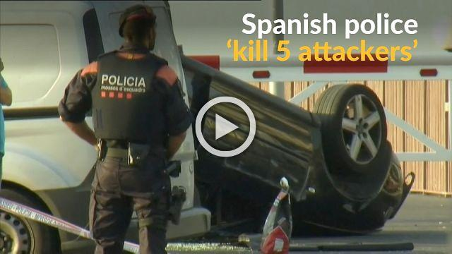 Spanish police 'kill five suspects' after second attack