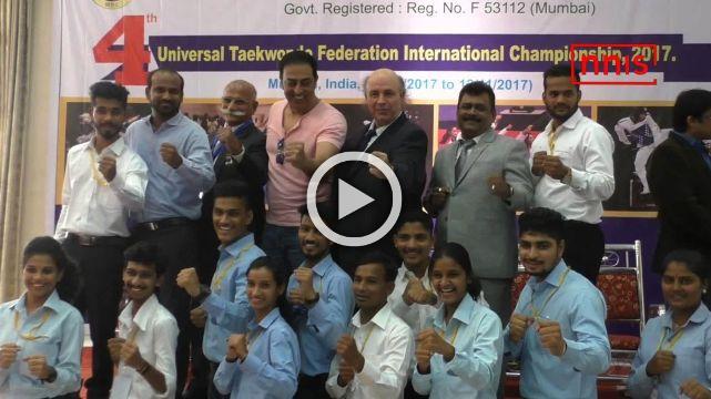 Actor Vindu Dara Singh Attends 4th International Taekwondo Championship
