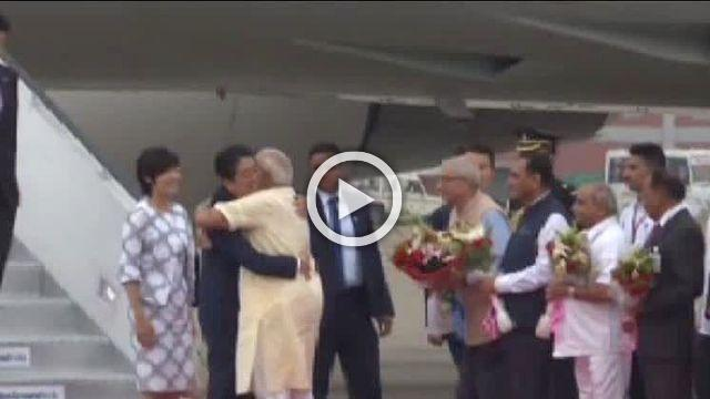 Japan's Prime Minister Shinzo Abe Arrives On 2 Day Visit To India