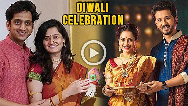 Marathi Actors Celebrating Diwali Shruti Marathe, Umesh Kamat and Dhanashri Kadgaonkar