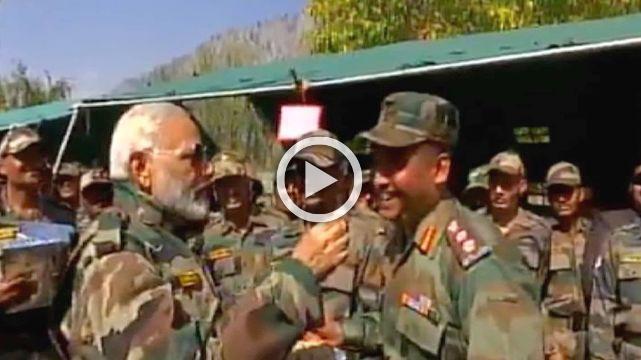PM Celebrates Diwali With Army Men, Says Meeting Them Energizes Him