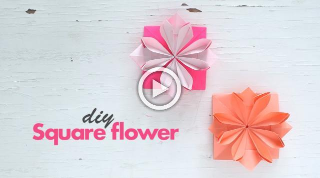 DIY: Square Flower