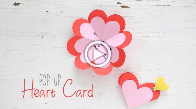 DIY Pop-up Heart Card
