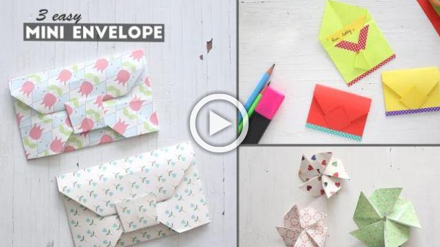 3 Easy Mini Envelopes