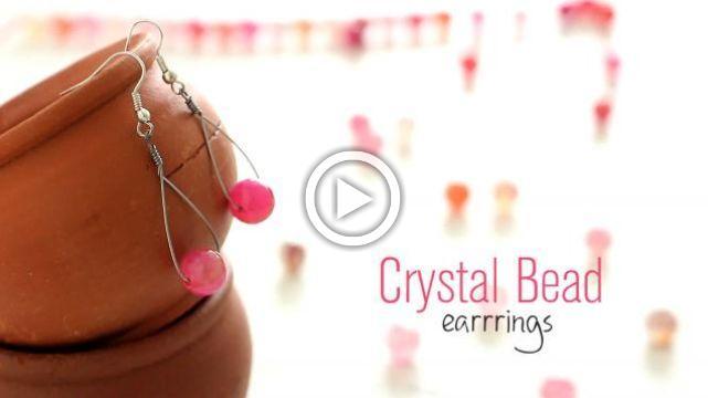 DIY Crystal Bead Earrings
