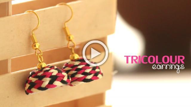 DIY Tricolour Earrings