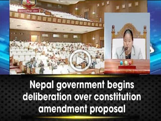 Nepal government begins deliberation over Constitution amendment proposal