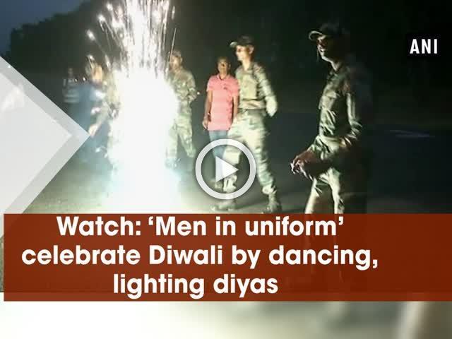 Watch: 'Men in uniform' celebrate Diwali by dancing, lighting diyas
