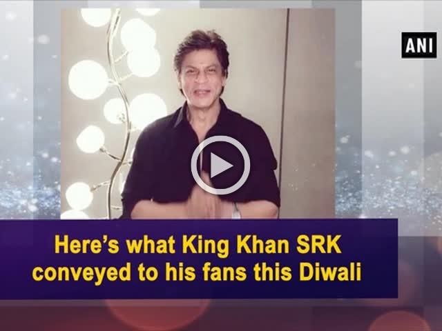 Here's what King Khan SRK conveyed to his fans this Diwali