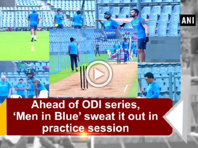 Ahead of ODI series, 'Men in Blue' sweat it out in practice session