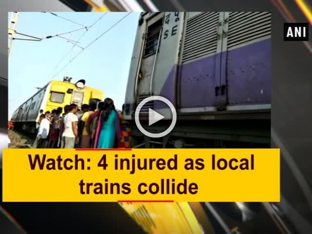 Watch: 4 injured as local trains collide