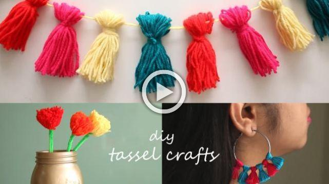 3 Easy Tassel Crafts