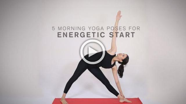 5 Morning yoga poses for energetic start